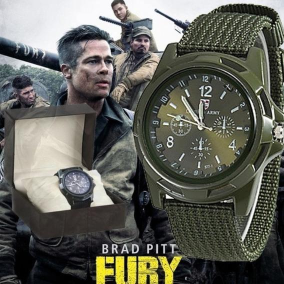 Relógios Masculinos Gemius Brad Pitt Fury Pulseira Lona