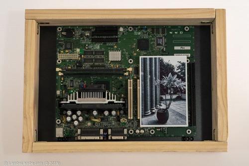 Porta-retrato Com Placa Mãe Intel Cpu Pentium Iii Reciclagem