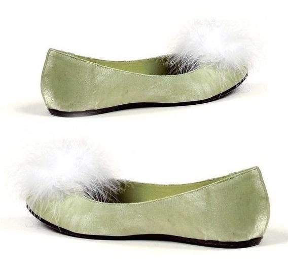 Zapatos Tinkerbell Campanita Glitter Verdes Para Damas 4
