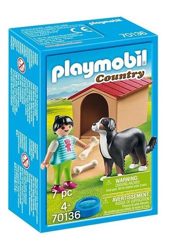 Playmobil Nena Con Perro 70136 Country Coleccion Ink Full
