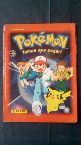 Álbum Figurinhas Pokémon Temos Que Pegar Completo 1999 (ler)