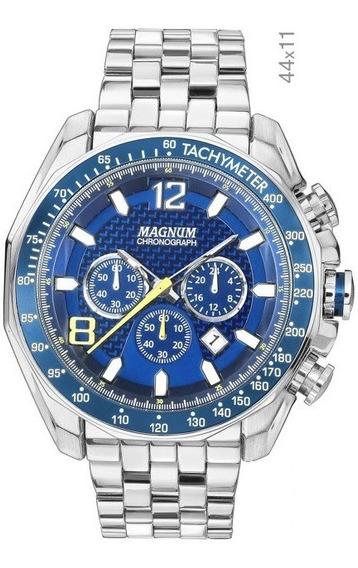 Relógio Magnum Masculino Cronógrafo Kit Com Pulseira Ma32167