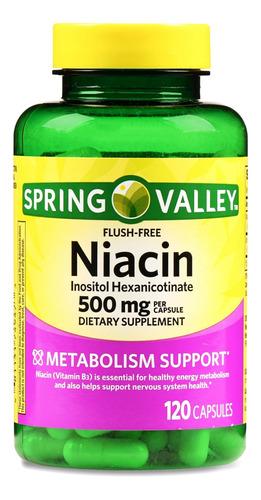 Niacina Inositol Niacin Flush Free 500 Mg No Enrojece Import