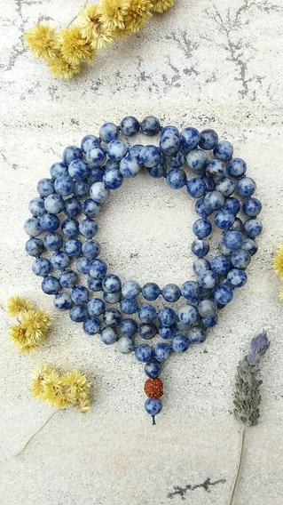 Japamala 108 Contas Pedras Naturais 8mm Sodalita Prana Yoga
