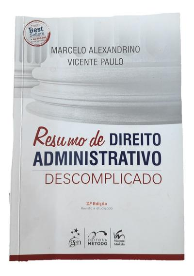 Livro Resumo Direito Administrativo Descomplicado 11 Ed Trf3