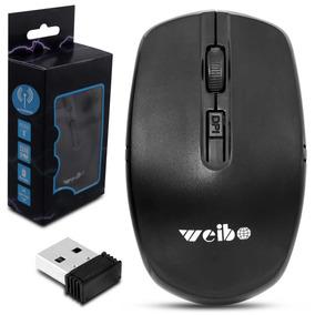 Mouse Óptico Sem Fio Usb Wi-fi Para Notebook E Pc Preto