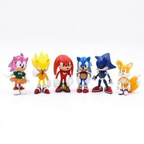 Kit 6 Bonecos Action Figure Sonic Nintendo Brinquedo