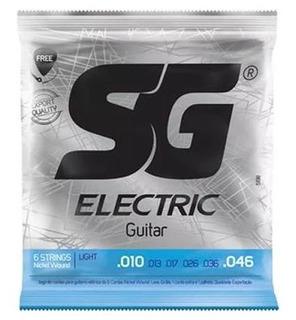 Encordoamento Guitarra 010 - Sg 5198 Grátis Corda + Palheta