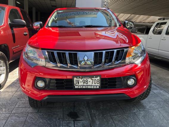 Mitsubishi L200 2018 2.4costo Extra Rines 4x2 Mt Rojo