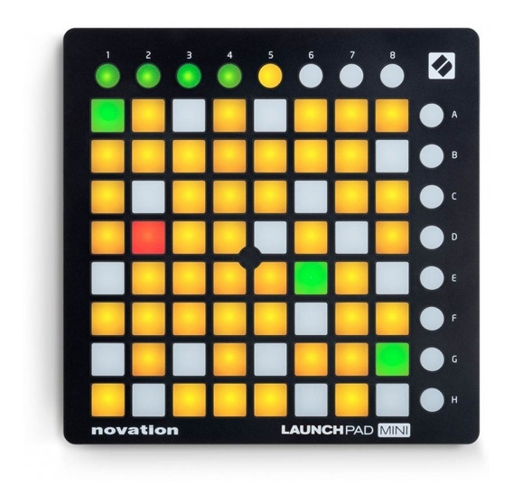 Controlador De Pad Launchpad Mini Mk2 - Novation + Nf - Com Nota Fiscal E Garantia De 2 Anos Proshows!
