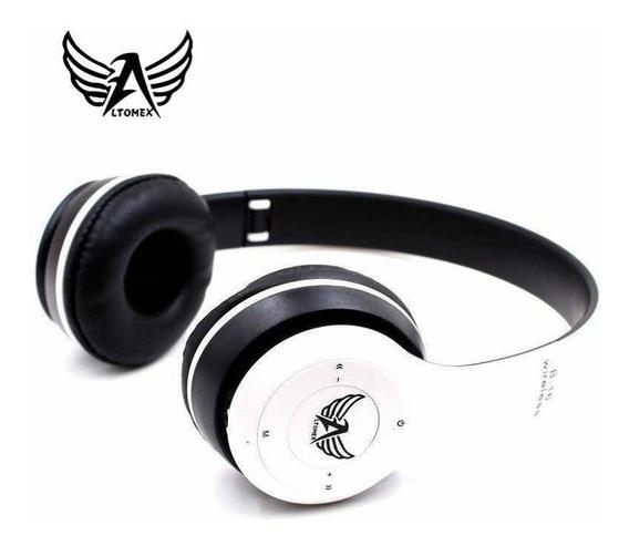 Fone De Ouvido Bluetooth Altomex Sem Fio Chamada Micro Sd Fm