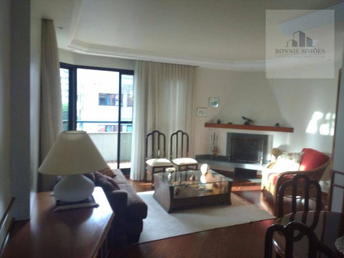 Apartamento À Venda No Campo Belo, 3 Dormitórios, 1 Suíte, 2 Salas Amplas, 3 Banheiros, 2 Vagas De Garagem, 118 M², São Paulo. - Ap0450