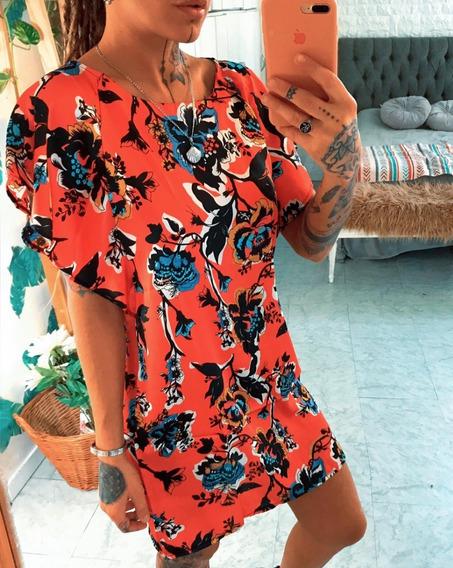 Vestido Corto De Raso Dama Mujer Art 7086