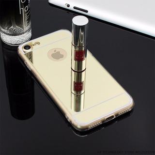 Promoção Capa Case Espelhada Para iPhone 7 Dourada