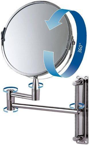 Espelho De Aumento Articulado Dupla Face - Mor 8482