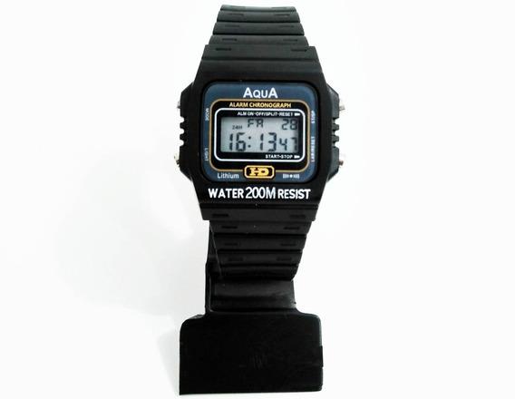 Kit Com 10 Relógios Aqua Aq-37 ( Resistente À Água ) Atacado