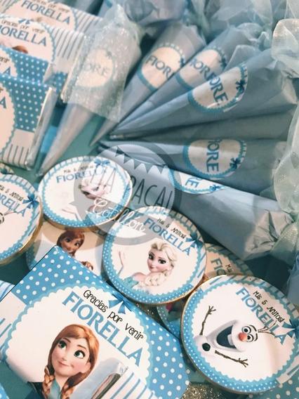 Candybar Frozen Golosinas Personalizadas 20 Chicos Combo 7