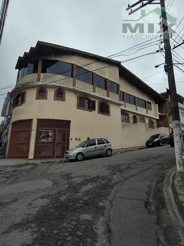 Imagem 1 de 15 de Casa Sobrado Com Salão De Festas Em Taboão - Diadema, Sp - 3717
