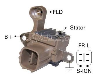 Imagen 1 de 7 de Regulador Alternador N-denso Toyota Hilux 2005/-2009