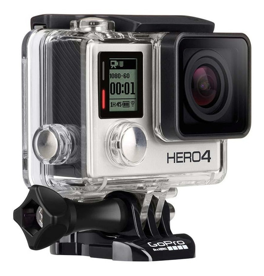 Gopro Hero4 Silver Camera Go Pro 4 Tela Lcd+64gb C/10+bastão