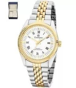Relógio Feminino Champion Dourado Prata Ch2777e Frete Grátis