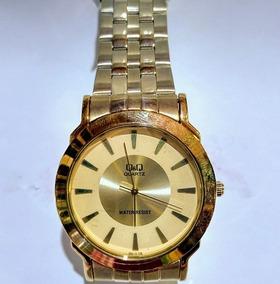Relógio Q&q Dourado - Q360-010y