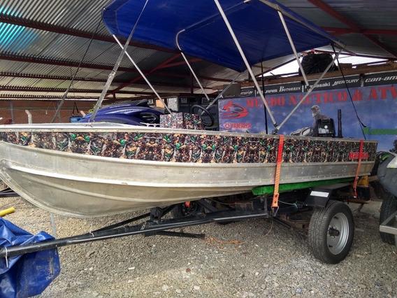 Bote De Aluminio Para Pesca, Motor Nuevo