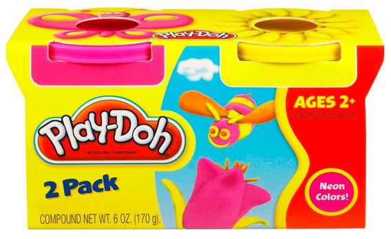 Play Doh Massinha 2 Potes Sortidos Amarelo Rosa 23655