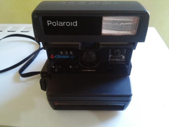 Maquina Fotográfica Polaroid Antiga Polaroid 636 Close Up