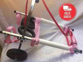 Cadeira De Rodas Para Cachorro 8 A 15kg Pequeno Porte - Rosa