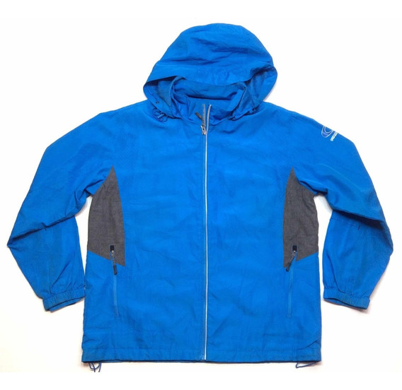 Campera Rompeviento Running Con Capucha Hombre Talle Xl