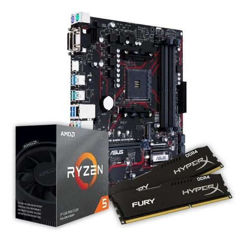Kit Amd Ryzen R5 3600 B450m Gaming Br Fury 2x 8gb 2666mhz