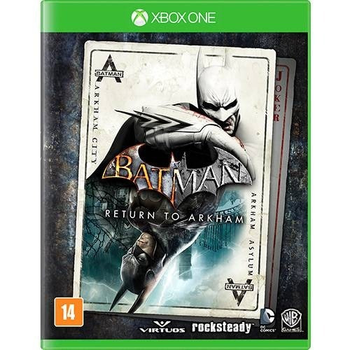 Jogo Batman Return To Arkham Xbox One Mídia Física