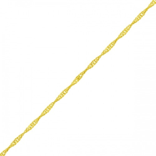 Tornozeleira De Ouro 18k Singapura De 25cm To00144