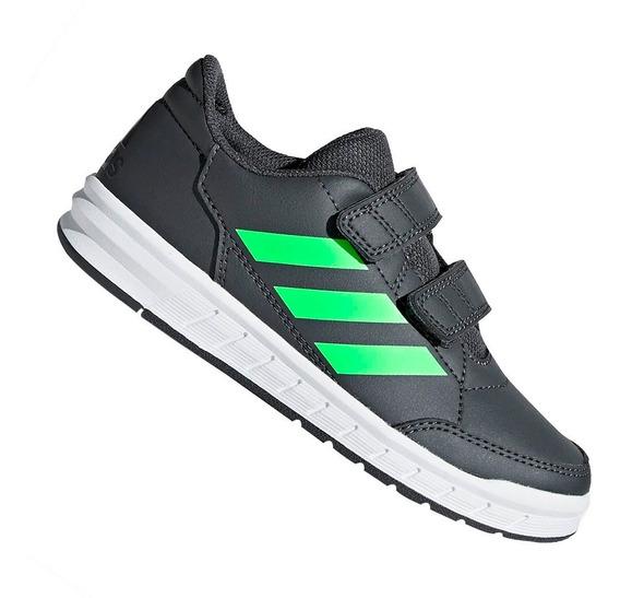 Tênis adidas Menino Altasport Cinza E Verde D96826 Original