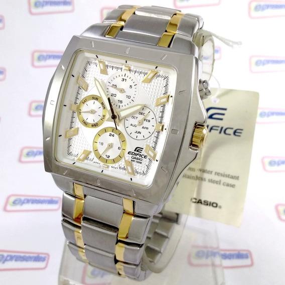 Ef-329sg-7a Relógio Casio Edifice Quadrado Aço 100% Original