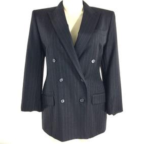 Blazer Importado M Ralph Lauren Luxuoso Elegante Em Lã Preto