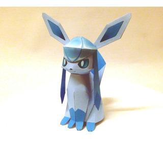 Glaceon Pokémonpapercraft Para Construir En Papel