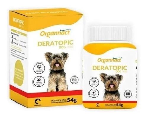 Imagem 1 de 3 de Deratopic Dog Tabs 54g (60 Tabs) - Organnact