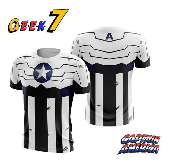 Camiseta Capitao America Hq Edição Comemorativa Dry Fit