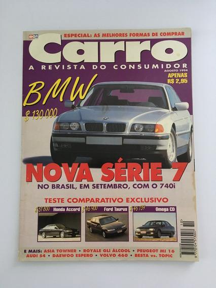 Revista Carro - Série 7 - Omega Cd - Ford Taurus