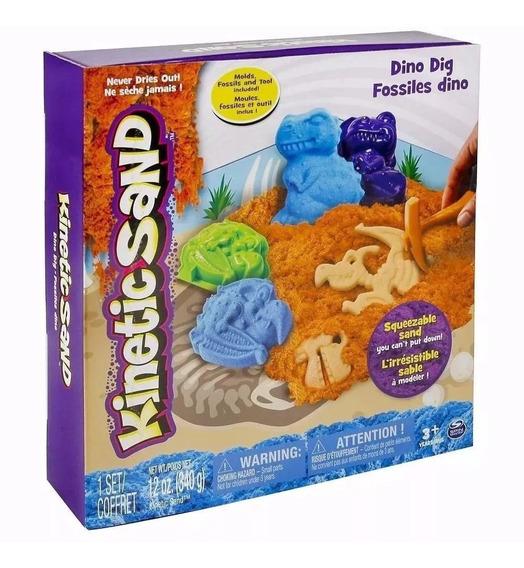 Set De Juego Perros Y Dinos Kinetic Sand Spin Master