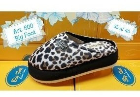 Pantufla Big Foot Gomon Estampada Nro.35 Al 40 Nesport