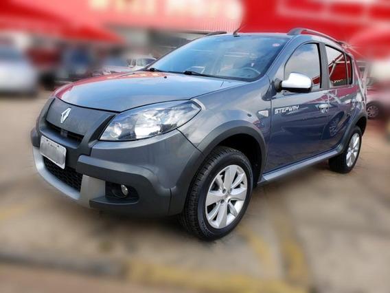 Renault Sandero Stepway Motor 1.6 2012 Cinza 5 Portas