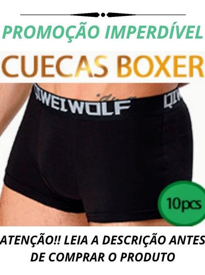 Cuecas Boxer Kit Com 10 Alta Qualidade Promoção