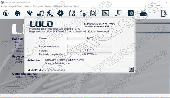 Lulo Ng 2017, Personalizable, Con Bdd De Este Mes Actual