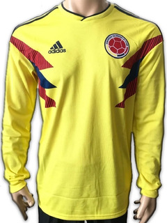 Jersey Colombia Local 2018 Manga Larga adidas