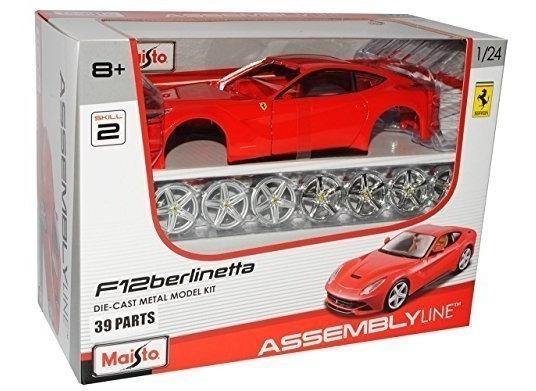 Auto Maisto Ferrari F12 Berlinetta Escala 1/24 Assembly Line