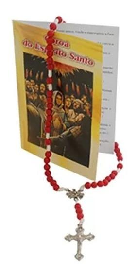6 Un Terço Com Folheto Coroa Do Divino Espírito Santo