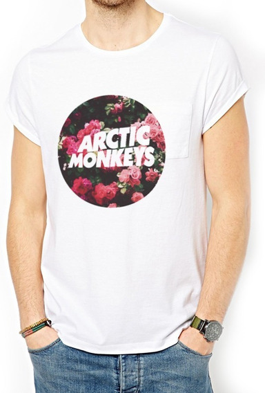 Playera Camiseta Artic Monkeys Rosas Flowers Circle Unisex